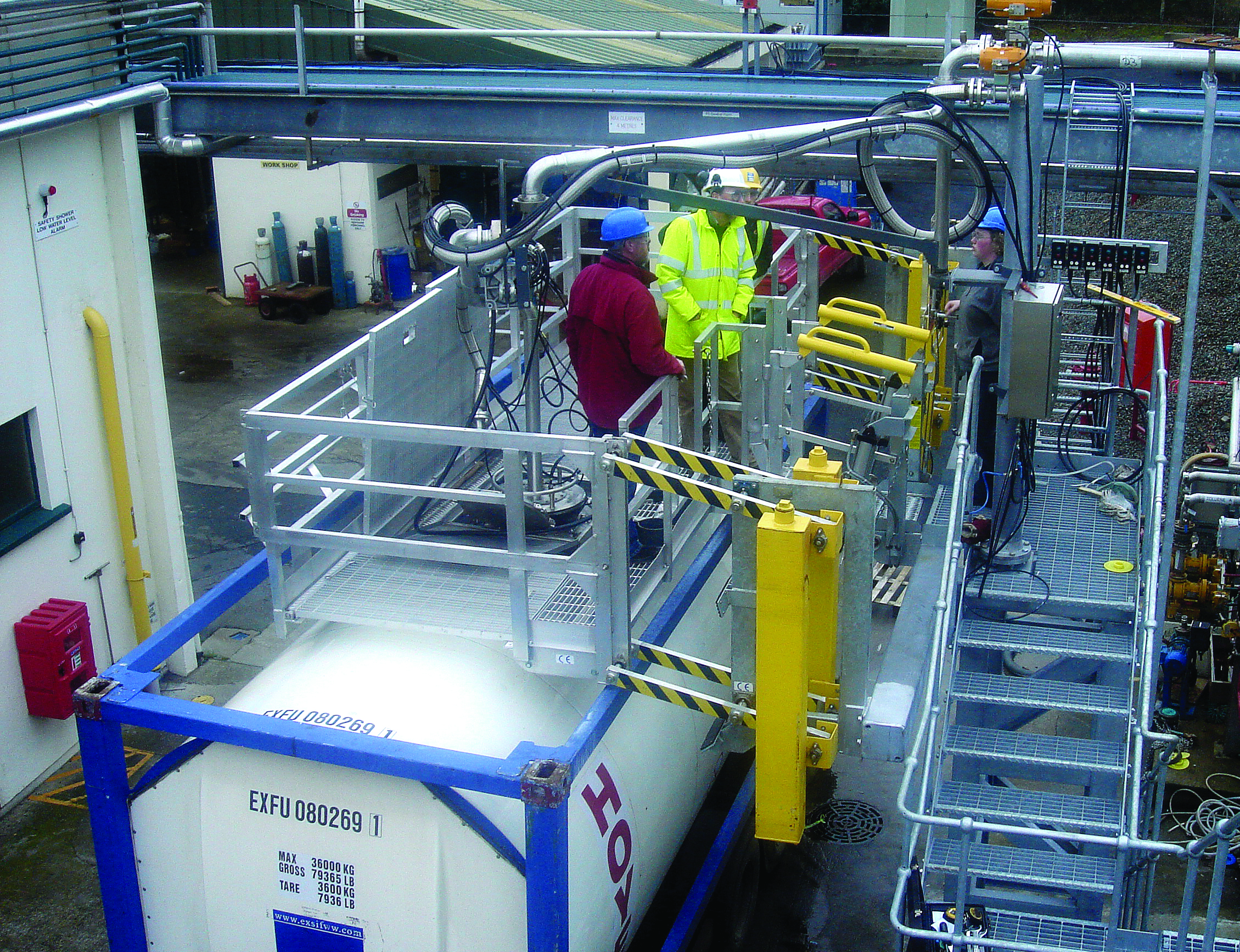 Learn about safety solutions for loading and unloading ISO containers.